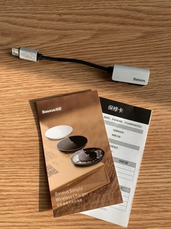 Baseus adapter 2x Lightning słuchawki do iPhone