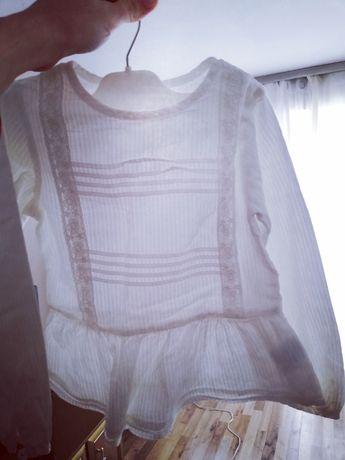 Bluzeczka hiszpanka elegancka, hafty, zdobiona, biała, mothercare