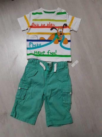 Komplet dla chlopca spodenki i koszulki, bluzki z krotkim rękawem,