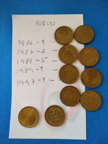 10 Moedas antigas de 10$00