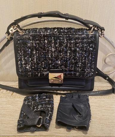 Сумка + перчатки Karl Lagerfeld оригинал Pinko Dior  Шанель LV