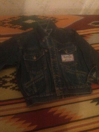 Детский пиджак джинсовый 128 раз