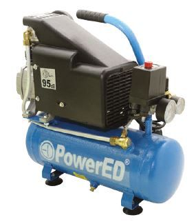 Compressor de ar portátil 6 litros 8 bars 126 litros/min 1,5CV