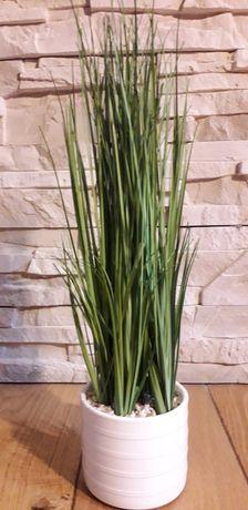 Sztuczna trawa biała doniczka