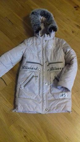 Куртка тепла для дівчини 10-12 років