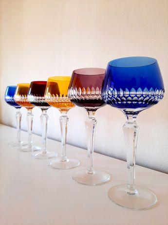6 magníficos copos de cristal coloridos