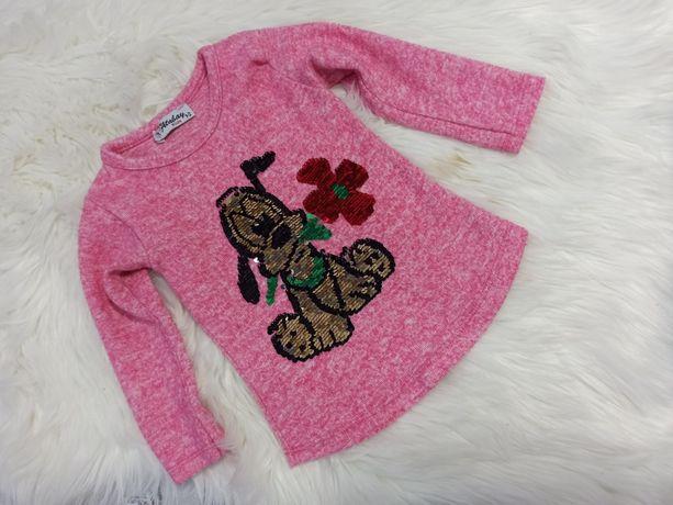 Sweterek z cekinami rozmiar 92