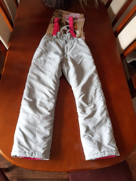 Spodnie narciarskie 146 dla dziewczynki
