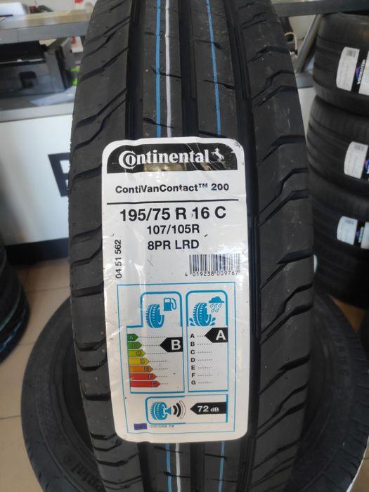 4x 195/75R16C Continental ContiVanContact 200 107/105R nowe letnie