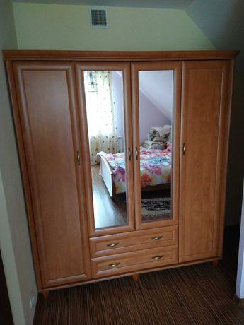 Szafa 4-drzwiowa, lustra