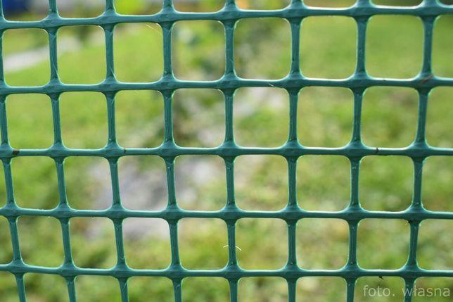 Siatka ogrodowa plastikowa rabatowa PCV 0,8m (oczko 15x15 50m) zielona
