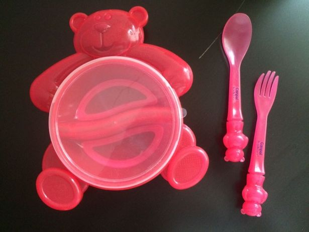 Набор детской посуды Canpol babies /тарелка/ ложка/ вилка