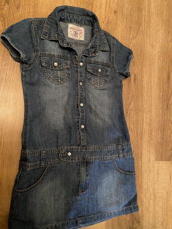 Sukienka jeans roz. 110/116cm