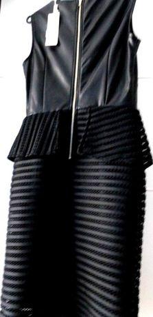 Czarna wizytowa sukienka S