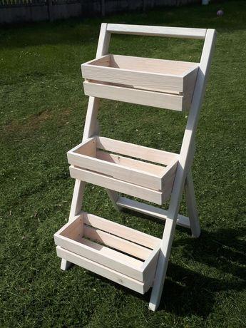 Kwietnik drewniany stojak na doniczki solidny !!!