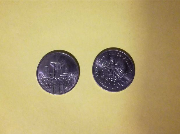 Stare monety o nominale 10.000 zl.
