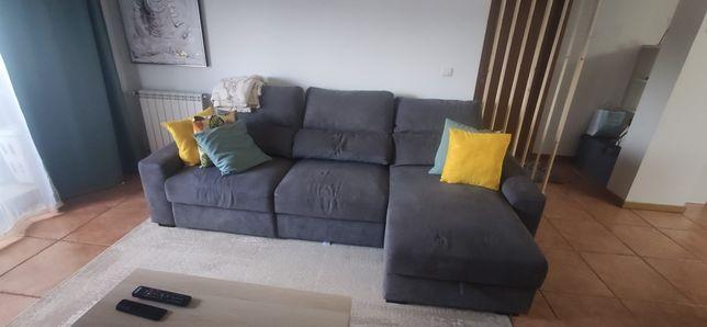 Sofá chaise lounge, sofá cama 3 lugares