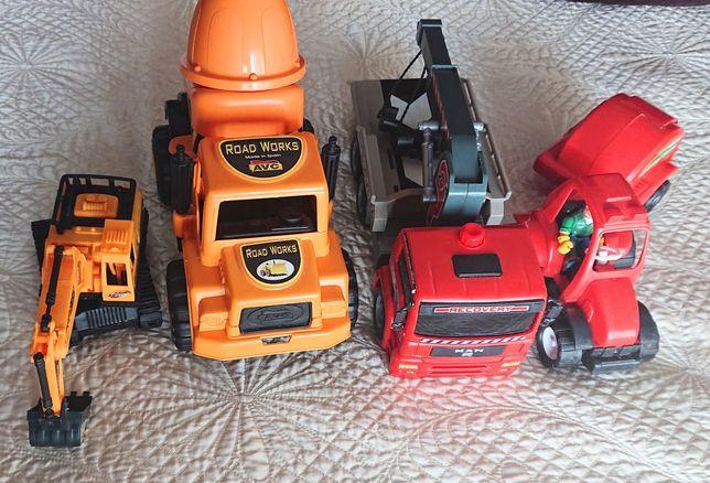 Betoneira,escavadora,trator e reboque