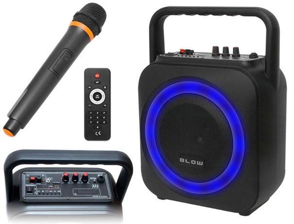 Głośnik BLUETOOTH Radio FM USB MP3 KARAOKE dla DJ a Wodzirej a Boombox