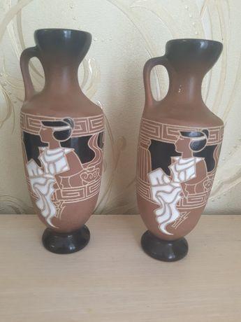 Декоративные вазы в стиле Египта 2 шт