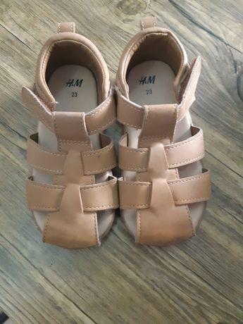 Sandałki h&m 23  chłopięce
