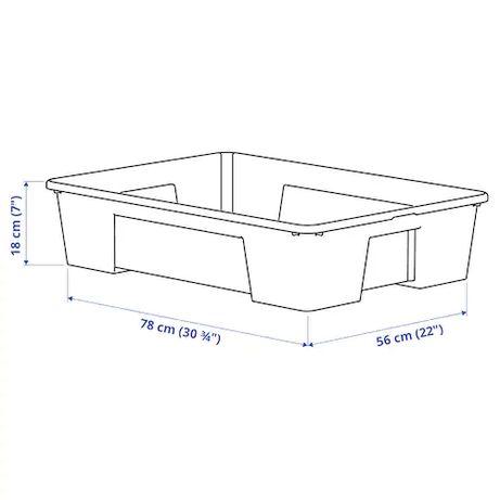 Pudło przeźroczyste Ikea Samla