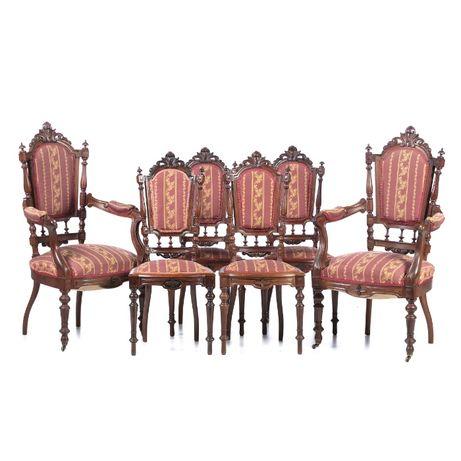 4 Cadeiras 2 Cadeirões Românticos