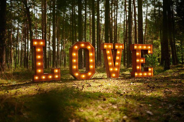 Drewniany napis LOVE 125 cm #boho #rustic #wesele #sesja zdjęciowa