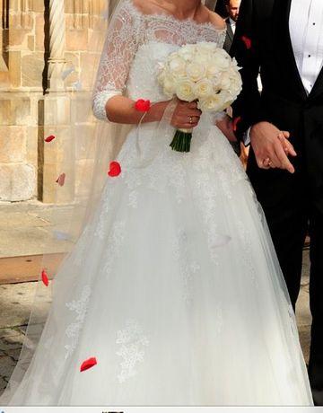 Suknia ślubna, rozmiar XS , 400 zł okazja