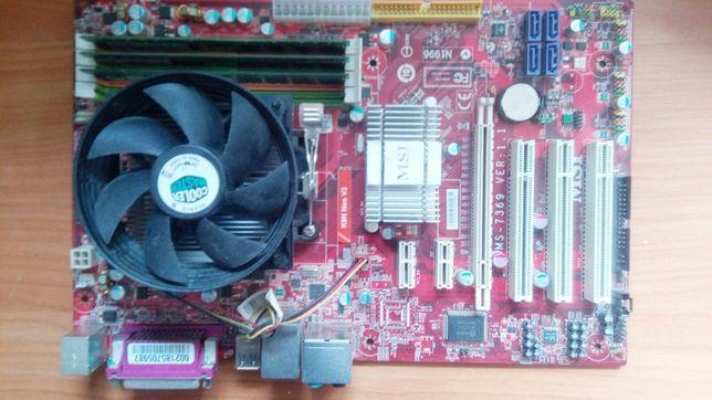 Продам мамку не рабочая с процессорам рабочый и оператва