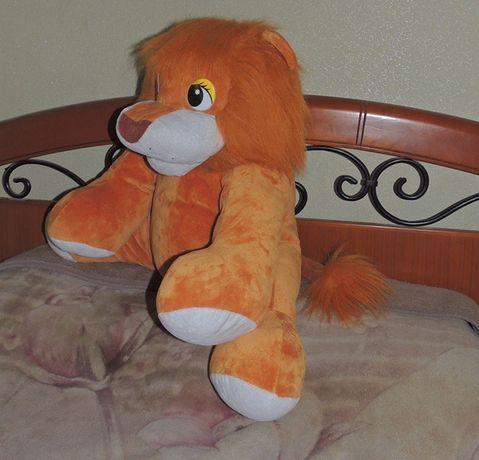 Большая плюшевая игрушка лев львёнок