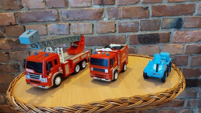 wozy strażackie plus dźwig Bob Budowniczy