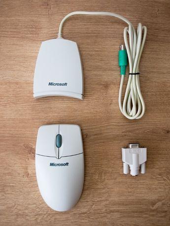 Nowa Mysz Microsoft bezprzewodowa PS/2 + COM dla DOS/WIN95/MAC