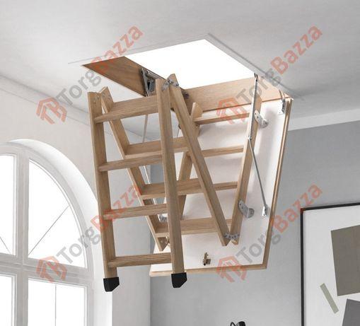 Лестница на чердак. Сходи на горище з бука. Гарантія якості !!!