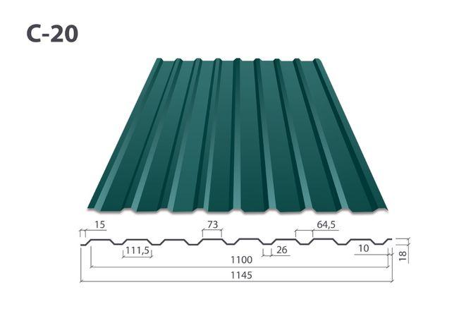 Профнастил ПС/ПК-20 цинк/полимер от Производителя. Короткие сроки!