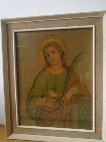 obraz ikona św. Agaty, 100 letni