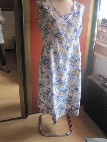 tkanina bawełniana bawełna 100% w kwiaty sukienka damska 40 L pas 92