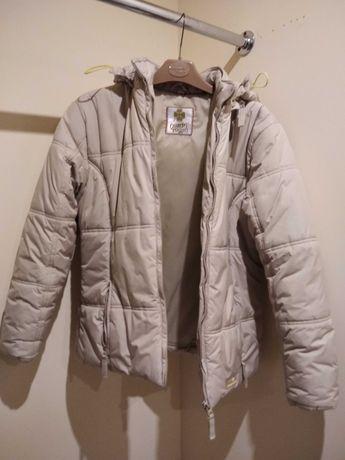Beżowa kurtka zimowa dla dziewczynki rozmiar 152-158 Quadri Foglio