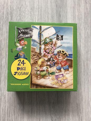 Puzzle Piraci, 24 elementy.