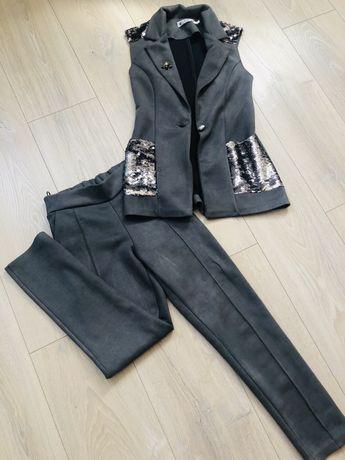 Шикарный стильный костюм (брюки и пиджак жилетка)
