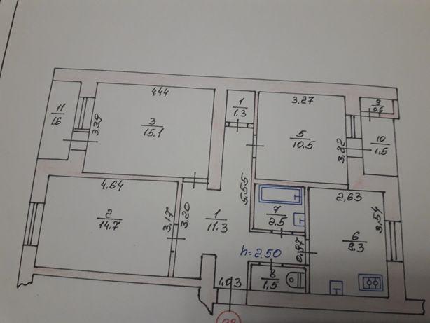 Продам 3х кімнату квартиру в Луцьку