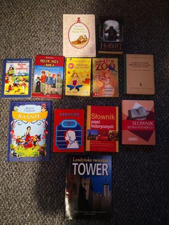 Książki różne słowniki, literatura dla dzieci