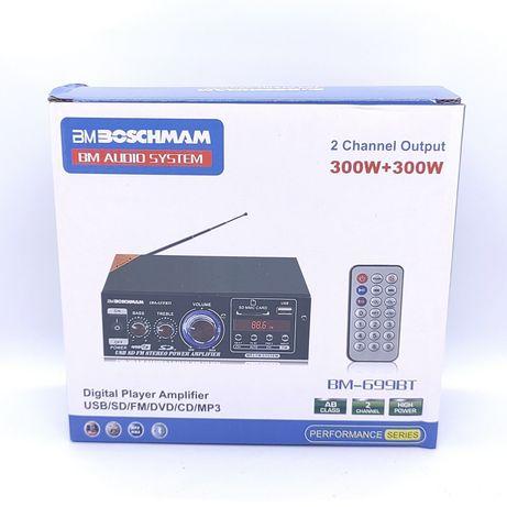 Усилитель звука Boschmam BM-699BT Bluetooth+USB 2-канальный