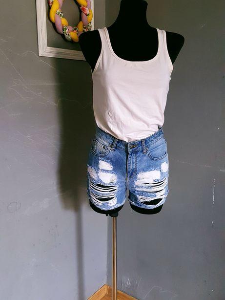 Prefekt Jeans Jeansowe szorty/spodenki z dziurami r.XS/34