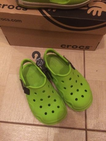 Сандалии Crocs Kids Swiftwater Wave C10 размер 27-28 16.6 см Зел