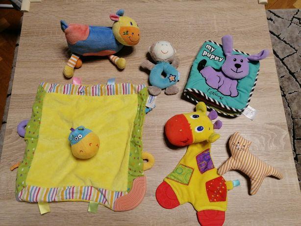 Zabawki przytulanki grzechotki niemowlęce