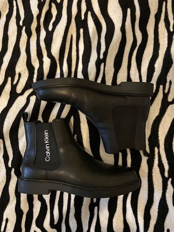 Ботинки Calvin Klein (44p, 28-28,5см) кожа