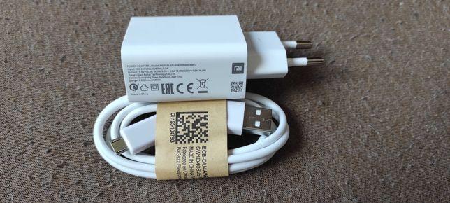 ładowarka XIAOMI SZYBKIE ŁADOWANIE + szybki kabel do smartfon tablet