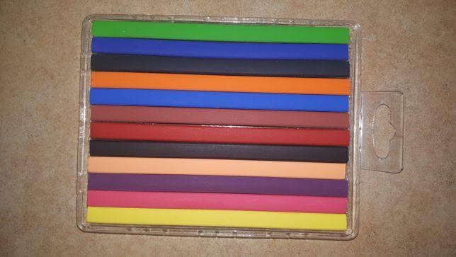 Kredki trójkątne, 12 kolorów Flexcils jak nowe świecowe