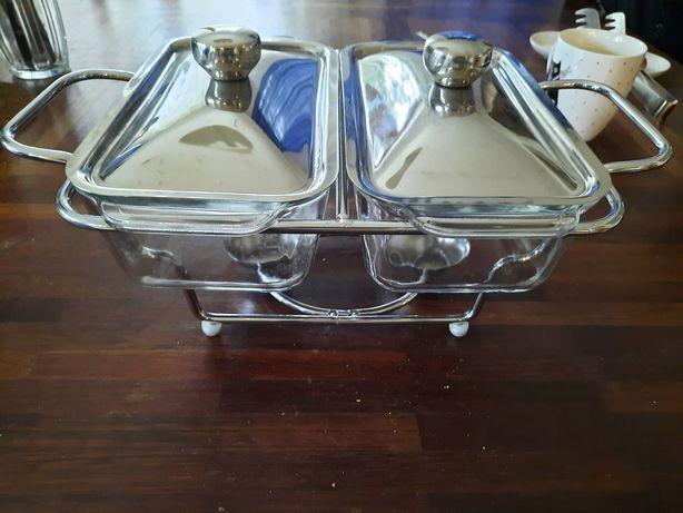 Dla kucharza hobbysty podgrzewacz szklany na świąteczny stół